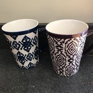 Other - Pair of Oversized Ikat Coffee Mugs